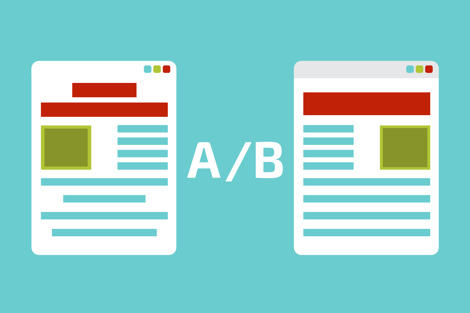 Illustration of an A/B website test