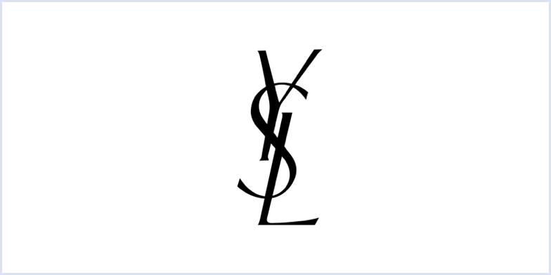 YSL monogram logo
