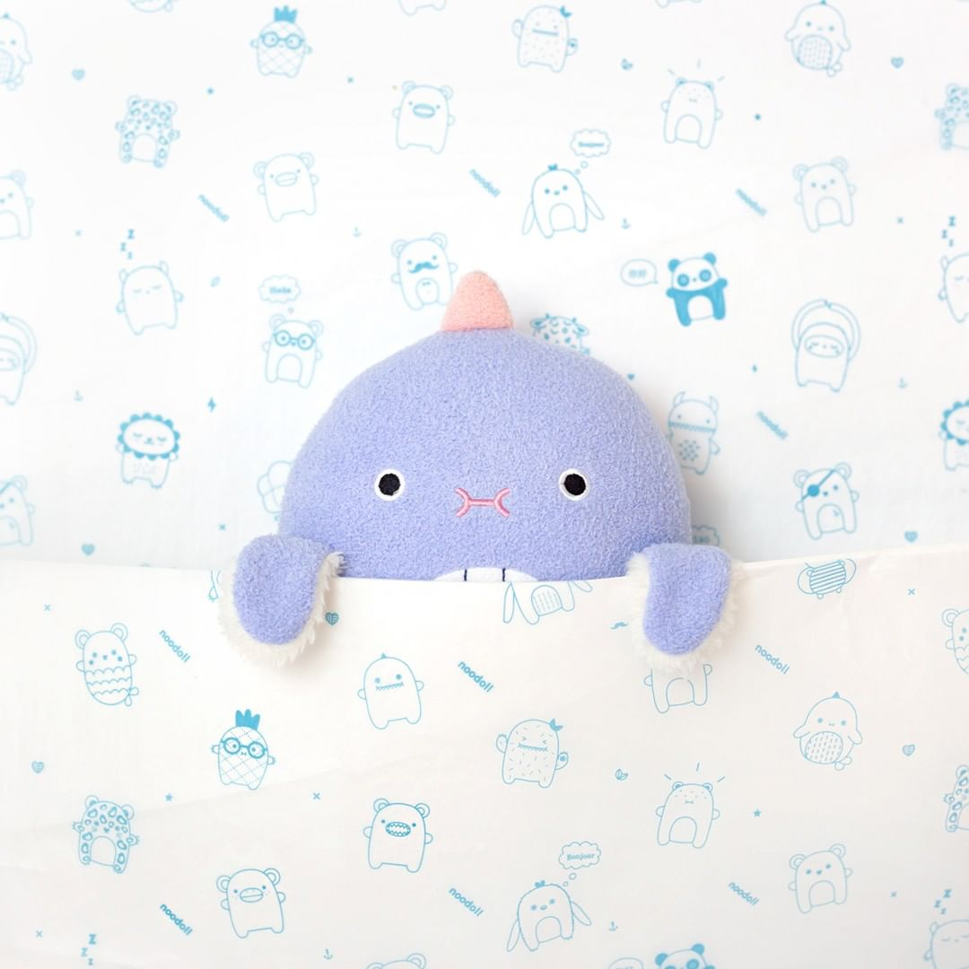 Cute plush toy in custom packaging design paper