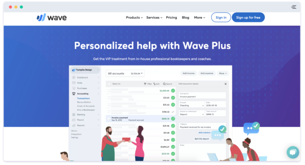 Wave website