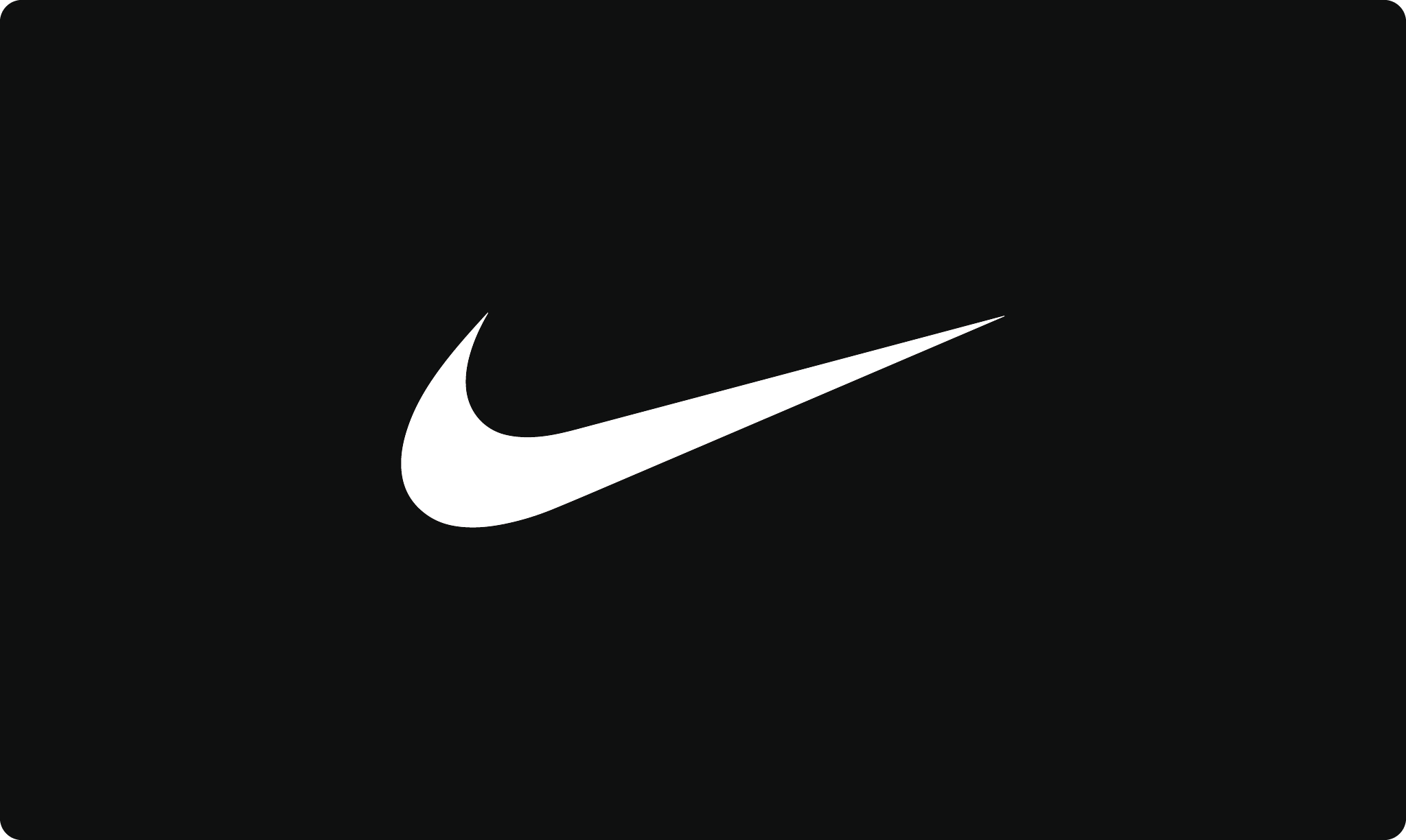 Nike logo in black and white
