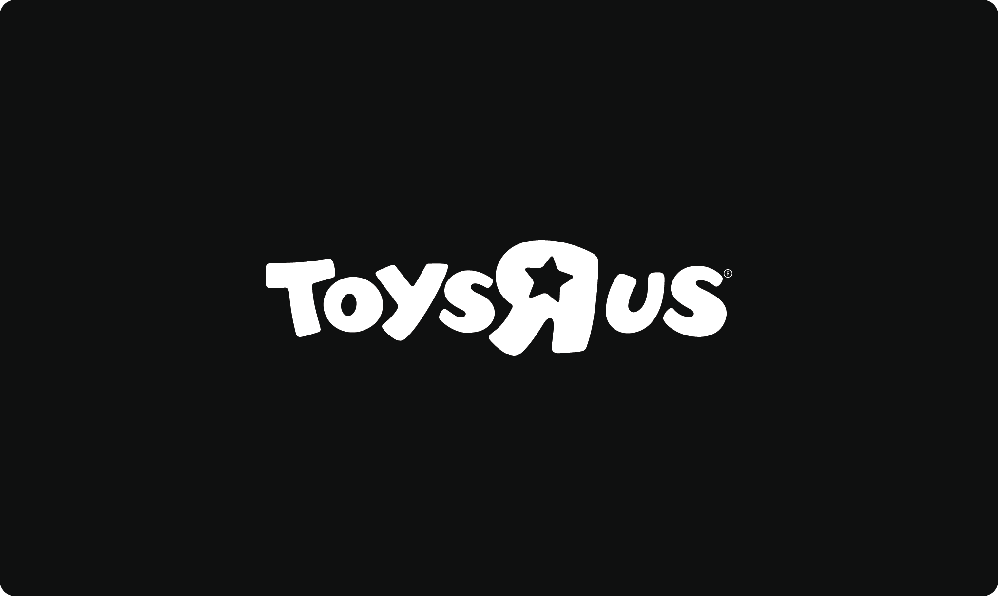 ToysRUs logo in black and white