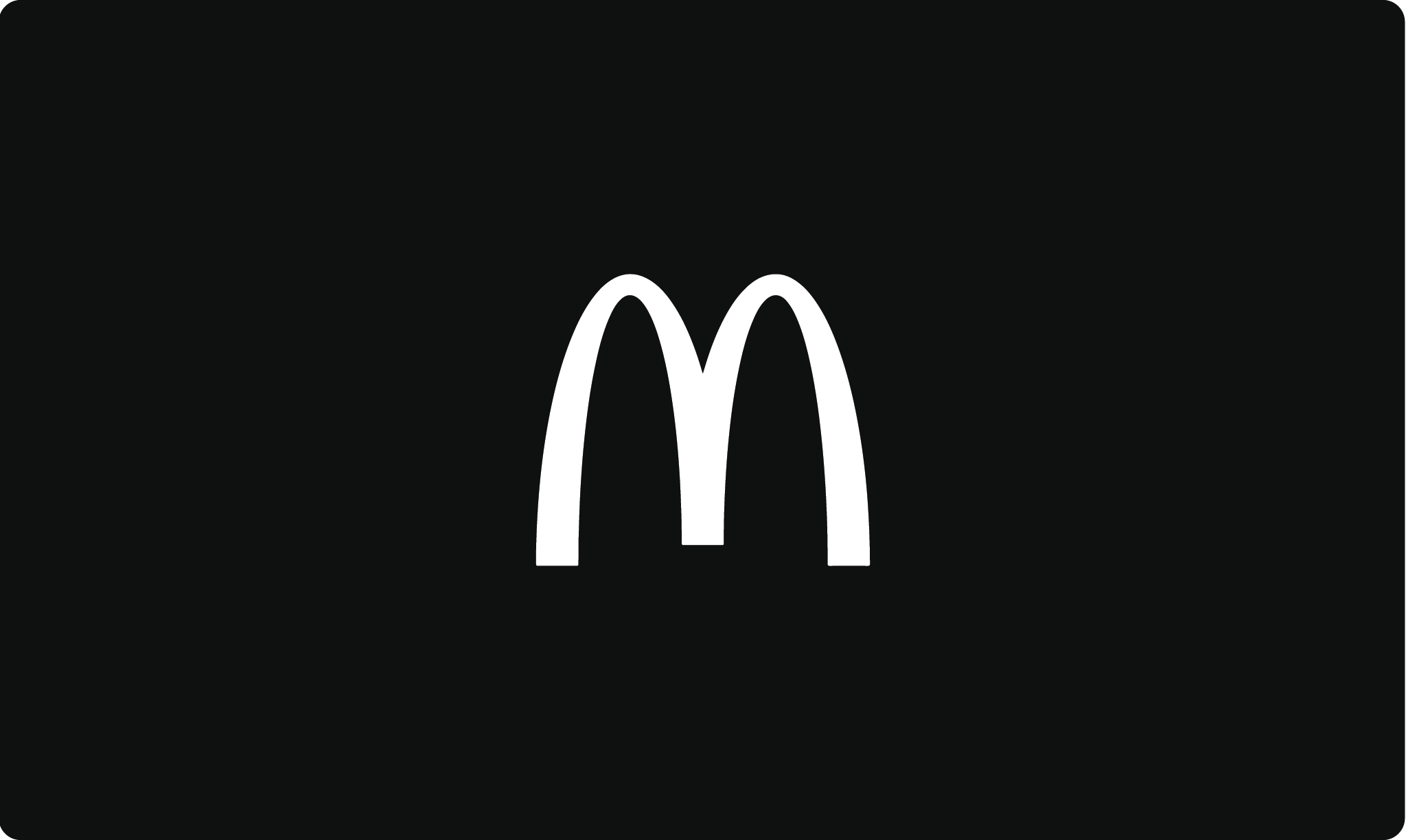 McDonalds logo in black and white