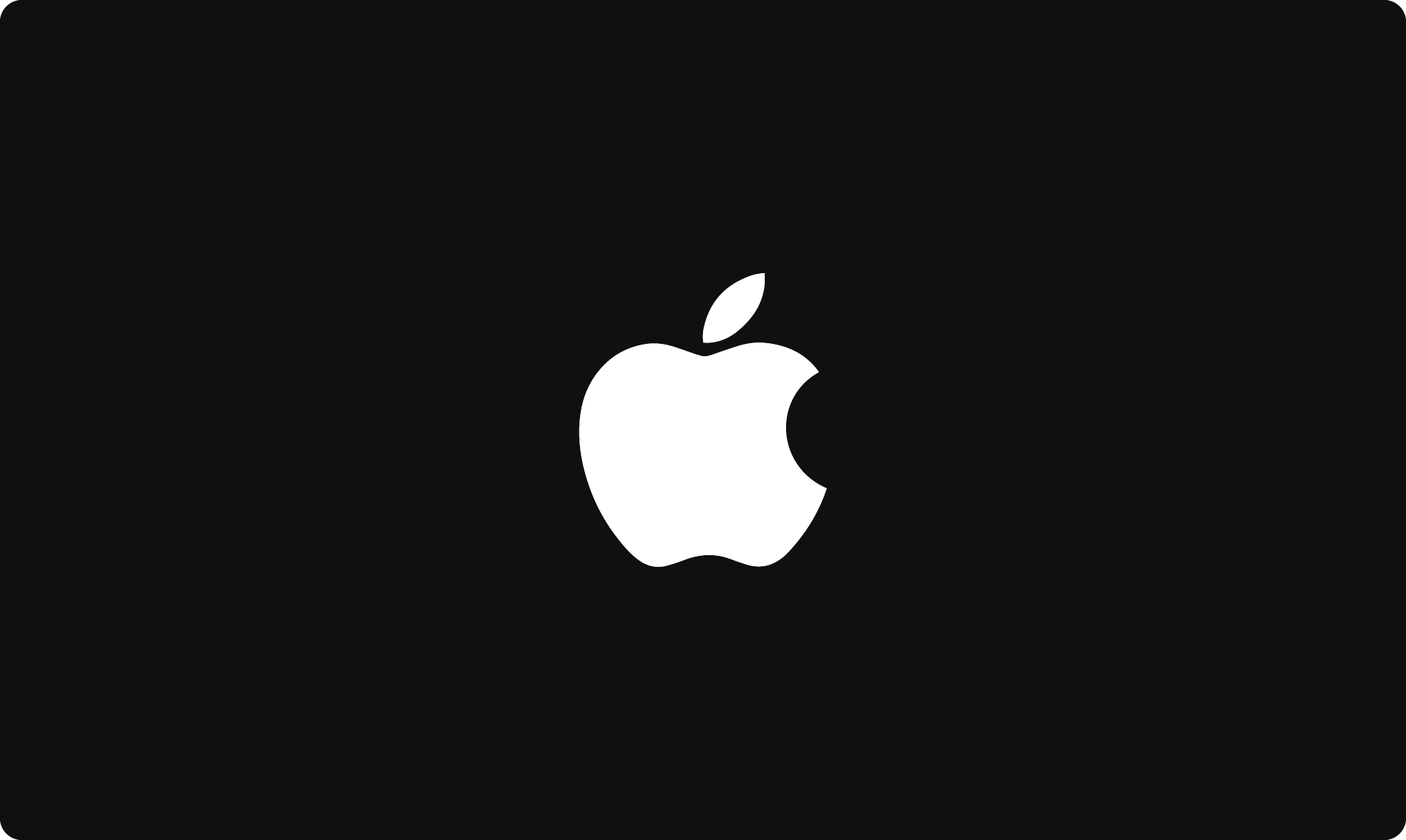 Apple's iconic logo in black and white