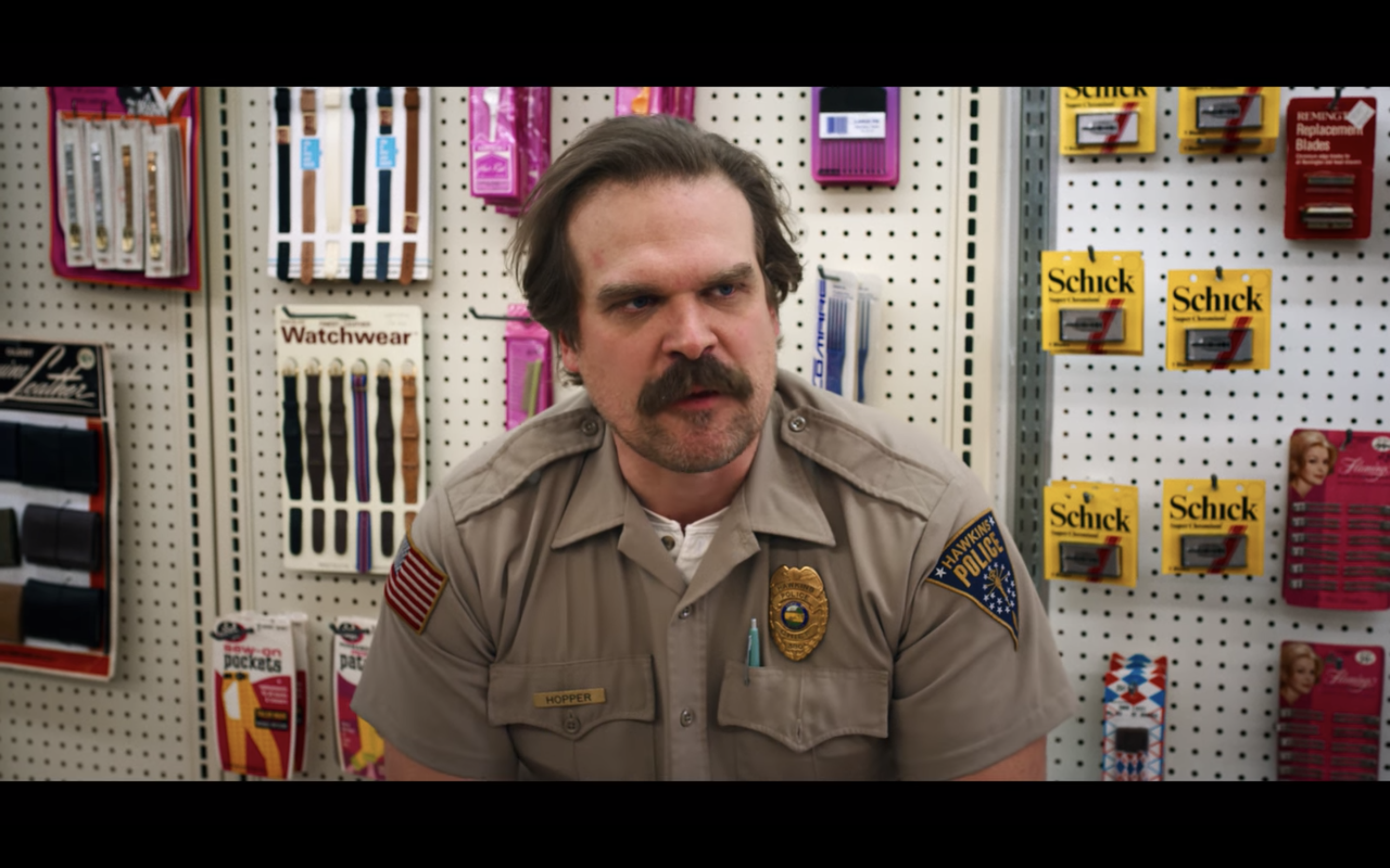 Schick logo in Stranger Things