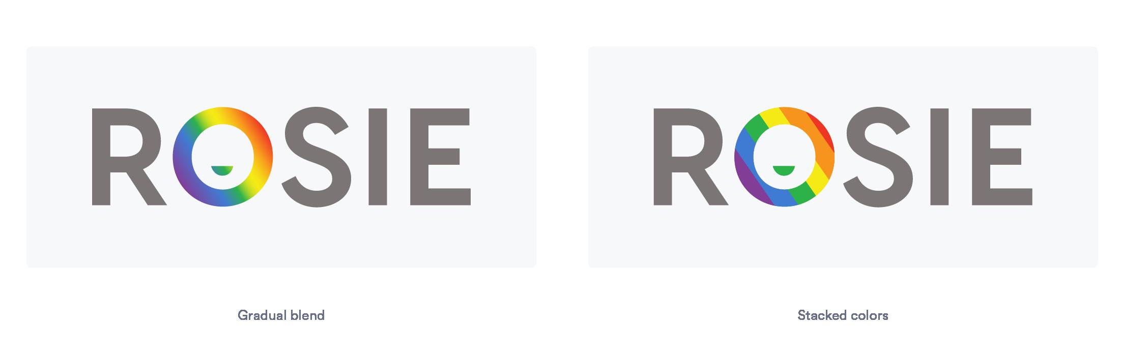 Gradient logo with rainbow colours