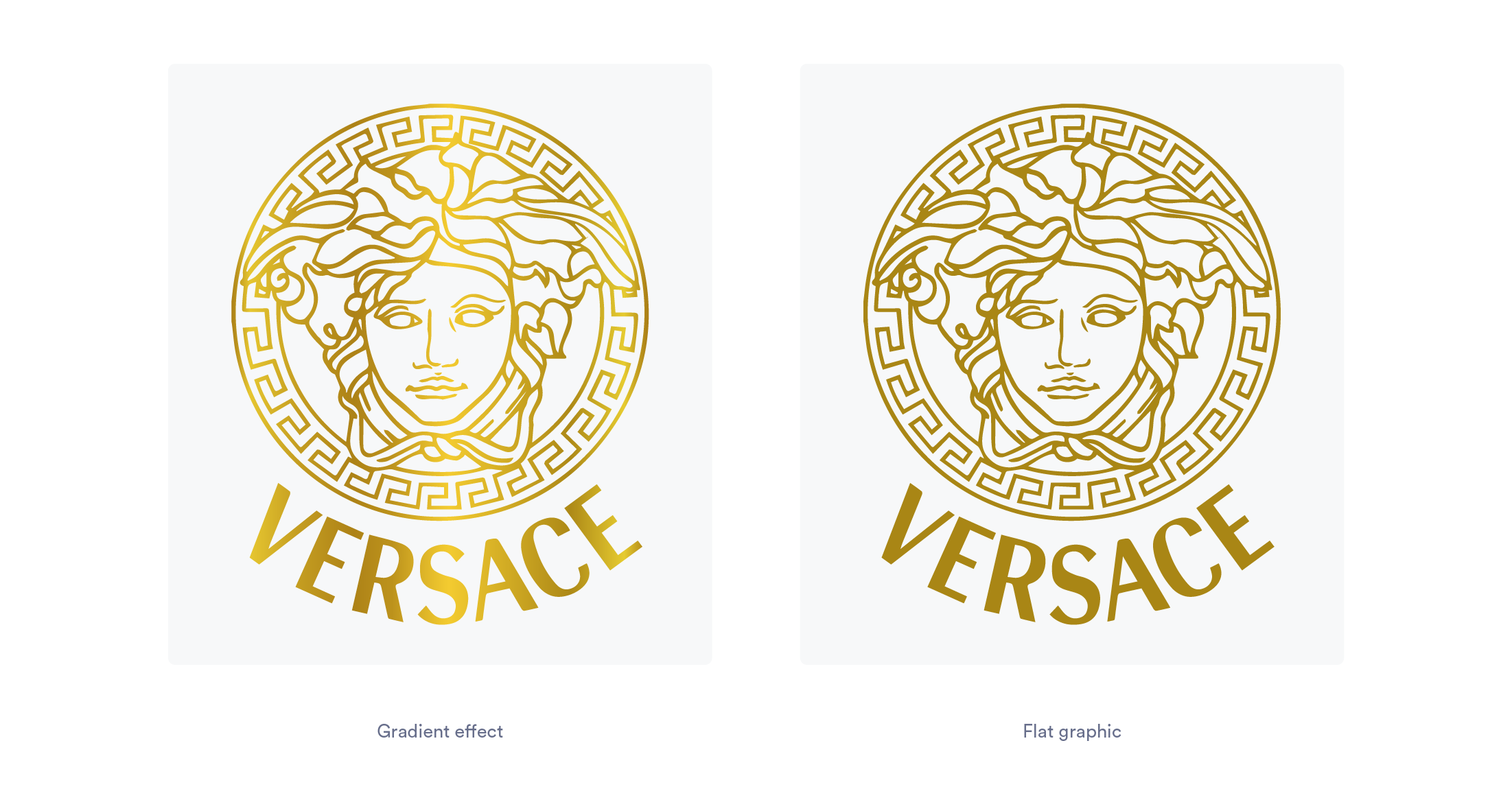 Versace logo with gold gradient