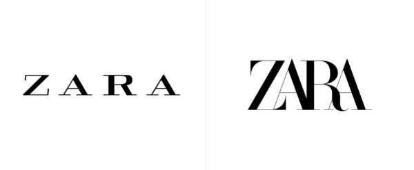 Zara logo redesign 2019