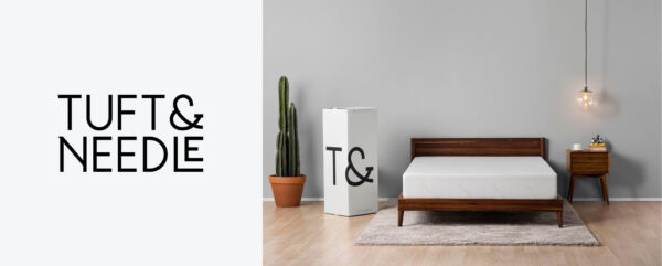 Tuft and Needle mattress logo and branding