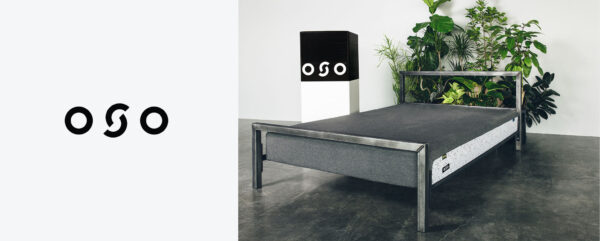 Oso mattress logo and branding