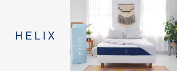 Helix mattress logo and branding
