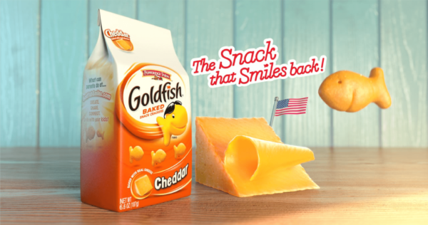 goldfish slogan the snack that smiles back