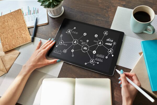 creating a consulting plan - tablet with chart