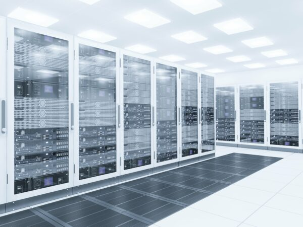 server farm or server warehouse
