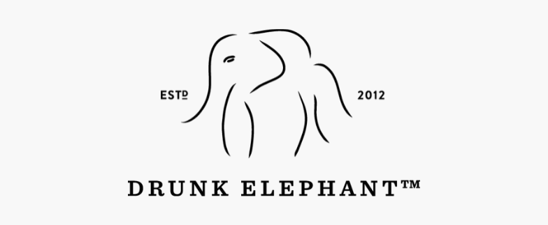 Drunk elephant animal logo symbol