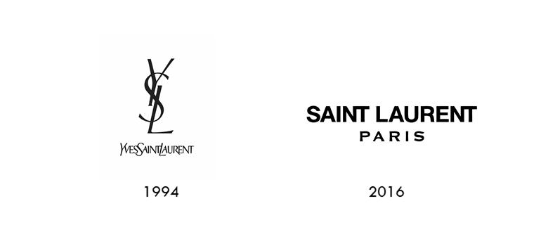 Yves Saint laurent logo evolution