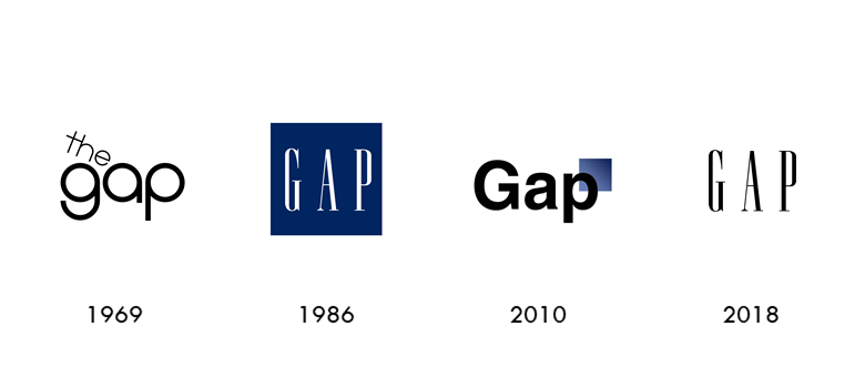 The gap logo evolution