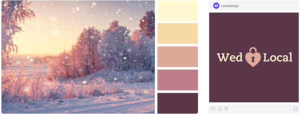 a warm purple winter color palette