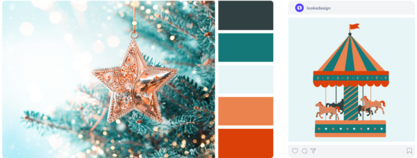 a cool winter color palette