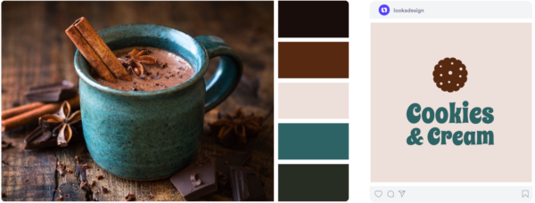 a chocolate winter color palette