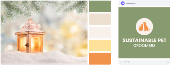 a light and airy winter color palette