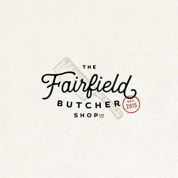 Fairfield Butcher Shop vintage look logo
