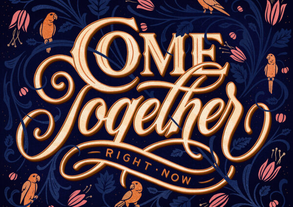 Come Together vintage pattern design