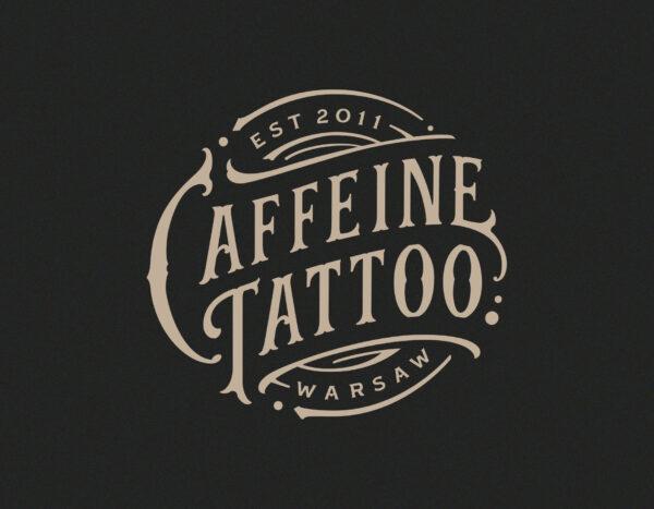 Caffeine Tattoo Vintage Logo
