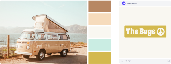 an airy vintage color palette with beachy colors