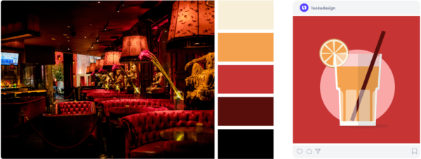 moody sexy red color palette