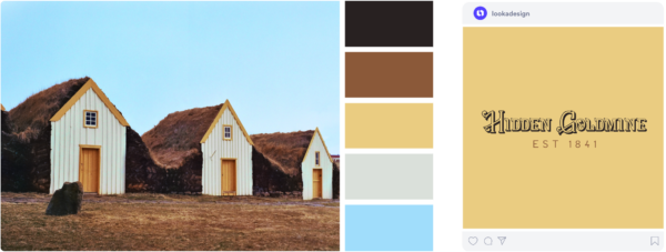 blue and brown color palette