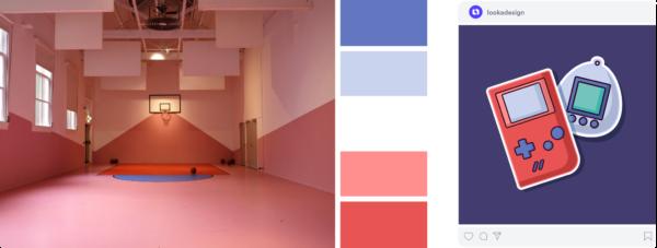 vintage pink color palette