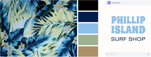vintage hawaiian themed color palette
