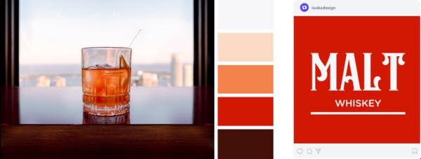 a red and orange vintage color palette