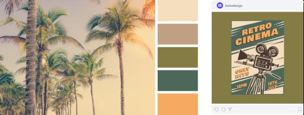 vintage california gold color palette
