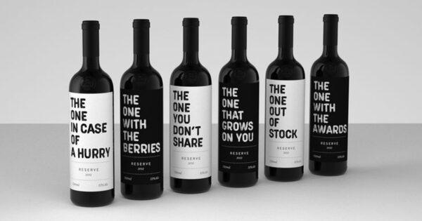 Wine typography