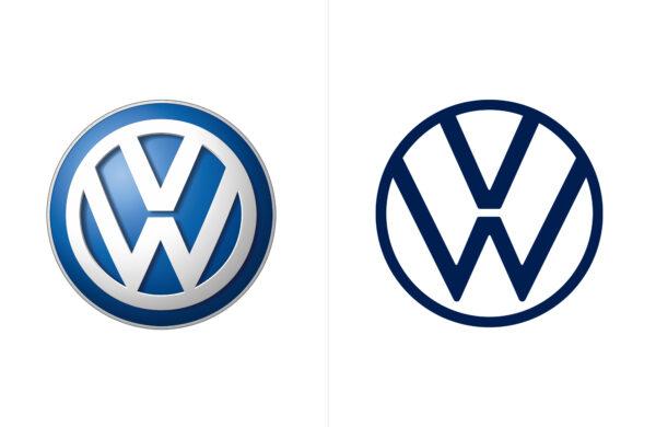 Volkswagen logo redesign 2019