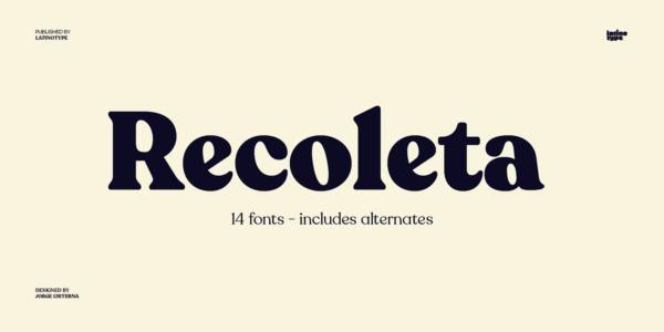 Recoleta font 2020