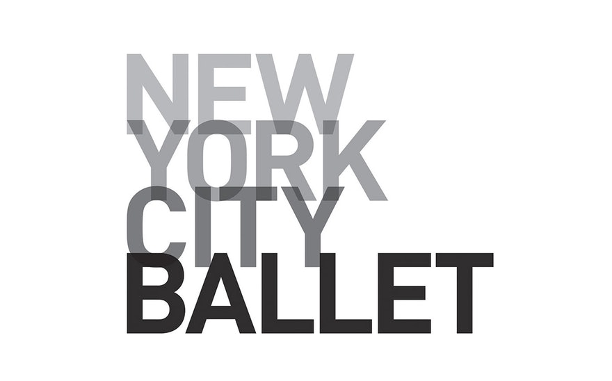 NYC ballet logo collage style