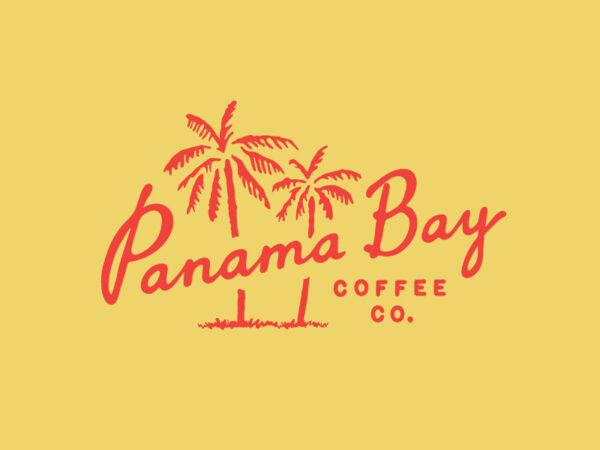 Panama bay vintage style logo