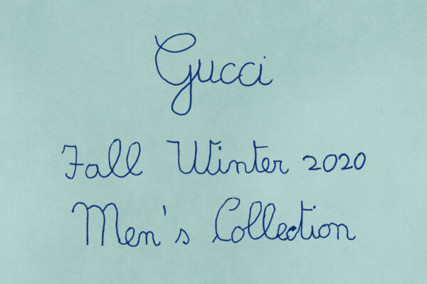 Gucci handwritten logo 2020