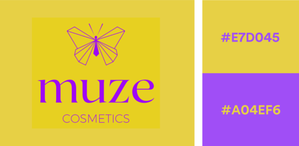 Yellow and Purple Logo Color Combination