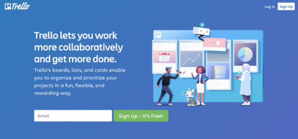 trello sign up page UX