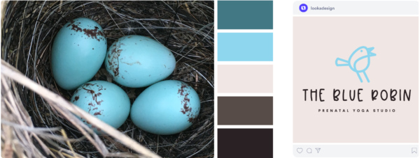 blue Spring color palette