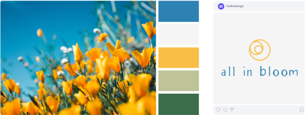 a fresh spring color scheme with yellow and blue