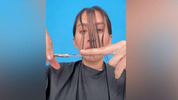jen atkin cutting own hair