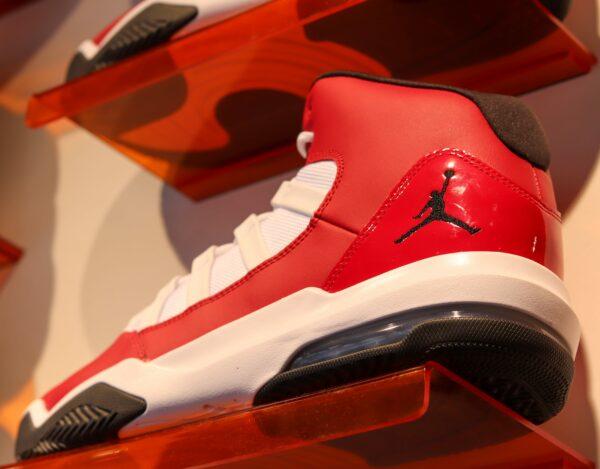 Red Air jordans retro aesthetic