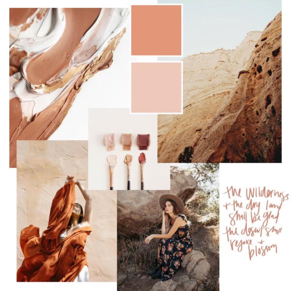 earthy beige moodboard