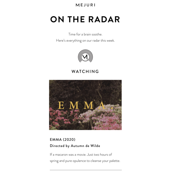 Mejuri newsletter example