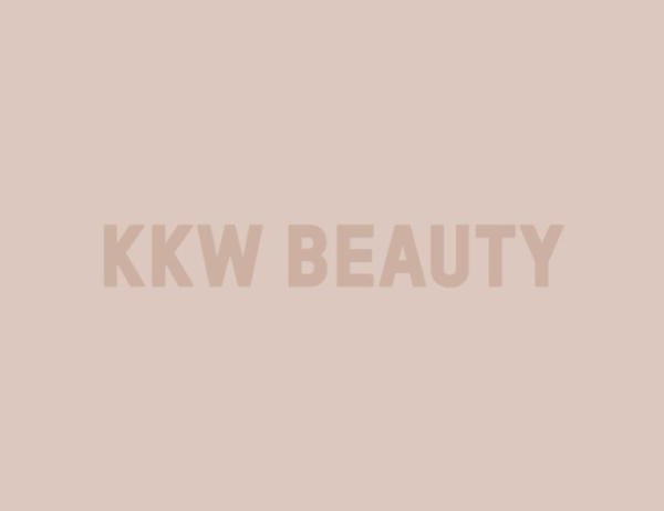 KKW Beauty Logo - Tan Text, Tan Background
